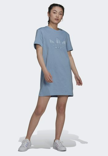 ORIGINALS TREFOIL MOMENTS DRESS LOOSE - Jersey dress - blue