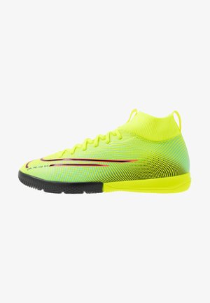 MERCURIAL 7 ACADEMY MDS IC UNISEX - Indoor football boots - lemon/black/aurora green