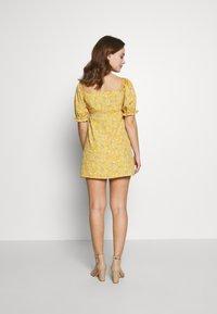 Miss Selfridge Petite - BUTTON MILKMAID TEA DRESS - Day dress - ochre - 2