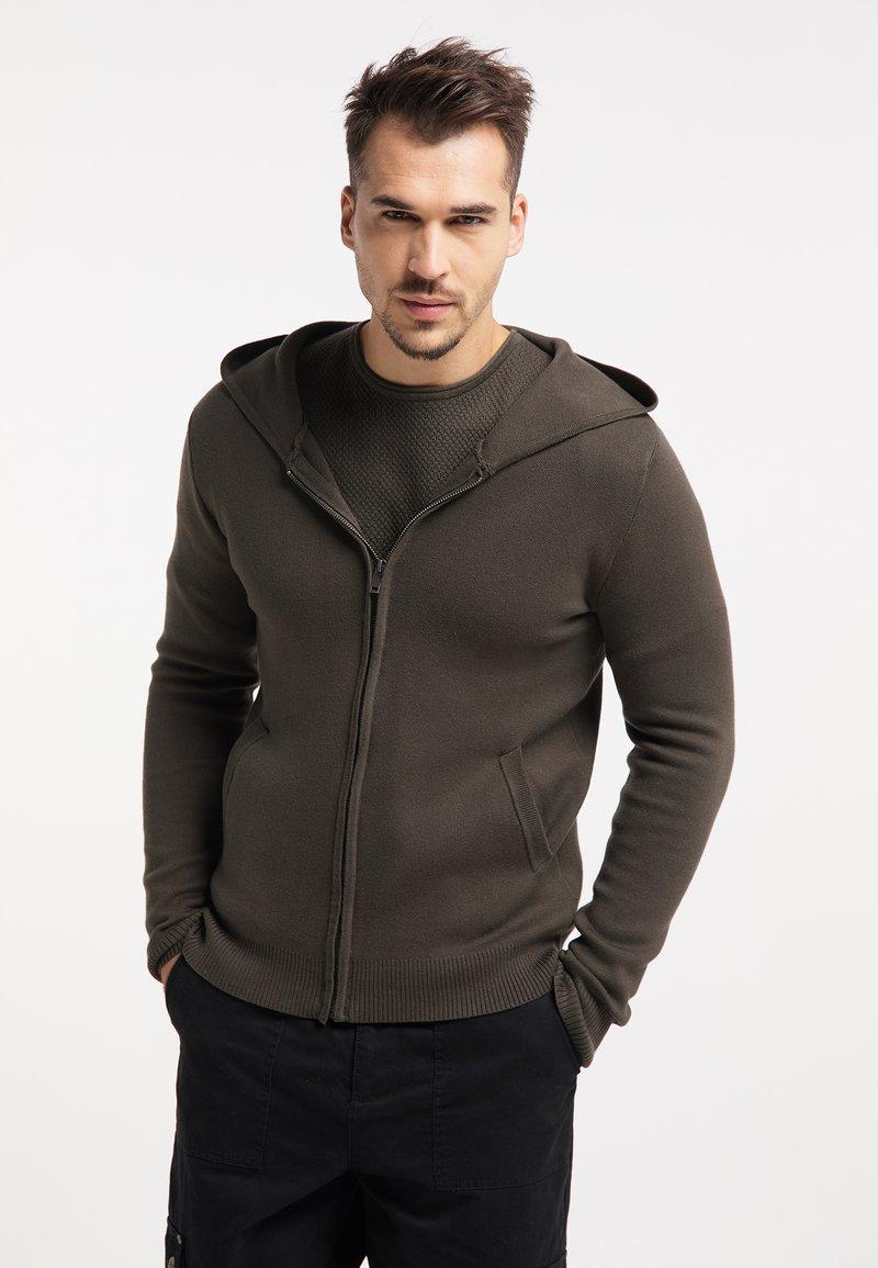 TUFFSKULL - Zip-up hoodie - militär oliv