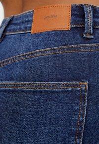 Bershka - MIT SEHR HOHEM BUND  - Jeans Skinny Fit - dark blue - 4