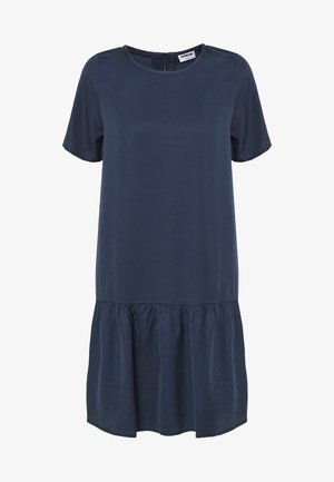 NMEMILIA SENDI PEPLUM DRESS - Day dress - mood indigo