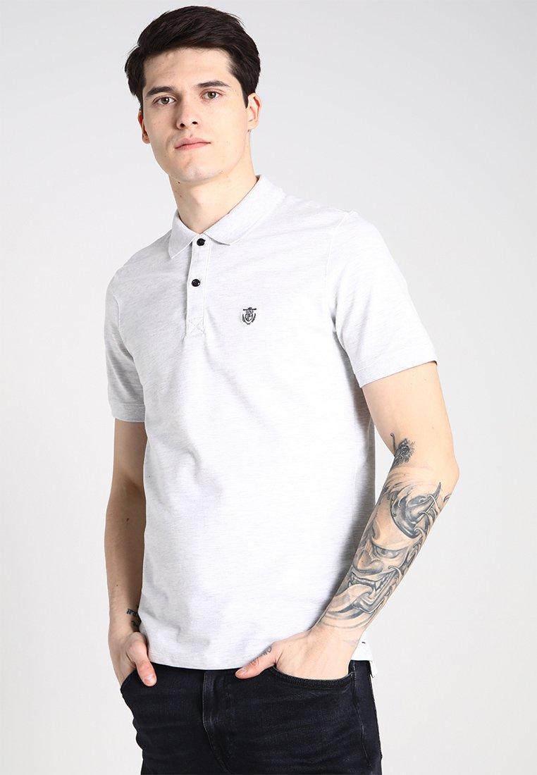 Selected Homme - SLHARO EMBROIDERY - Polo shirt - white melange