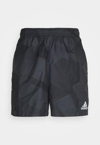 GRAPHIC SEASONAL - Krótkie spodenki sportowe - carbon/black