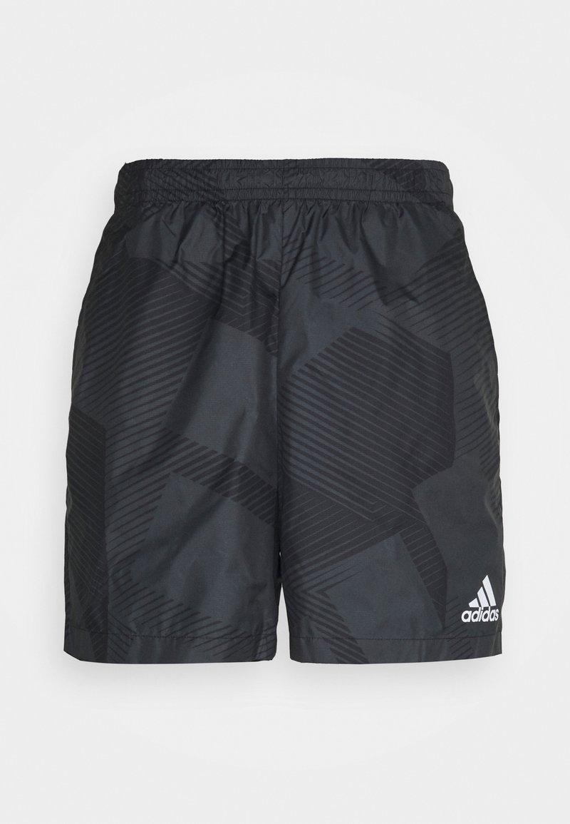 adidas Performance - GRAPHIC SEASONAL - Urheilushortsit - carbon/black