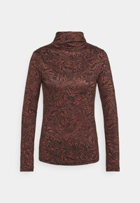 Who What Wear - RUCHED TURTLENECK - Long sleeved top - mahogany - 0