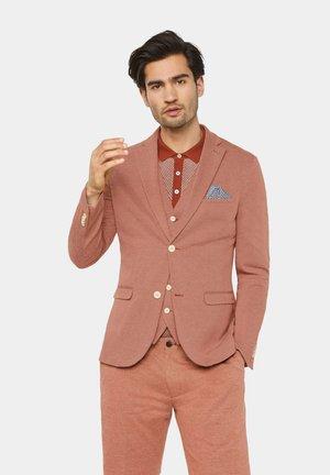 WE FASHION HERREN-SKINNY-FIT-SAKKO MIT MUSTER - Blazer jacket - rust brown