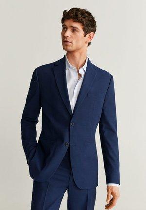 SLIM FIT ANZUGJACKE AUS WOLLSTOFF - Suit jacket - tintenblau