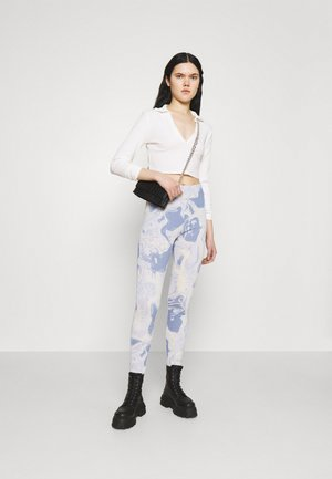 2 PACK - Leggings - Trousers - blue/black