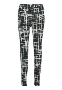 Kaffe - KAPAPPI  - Leggings - black/white stroke check - 2