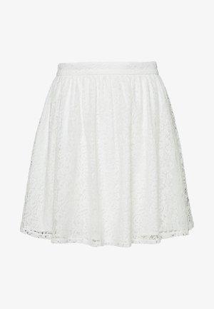 SKIRT - A-linjainen hame - white