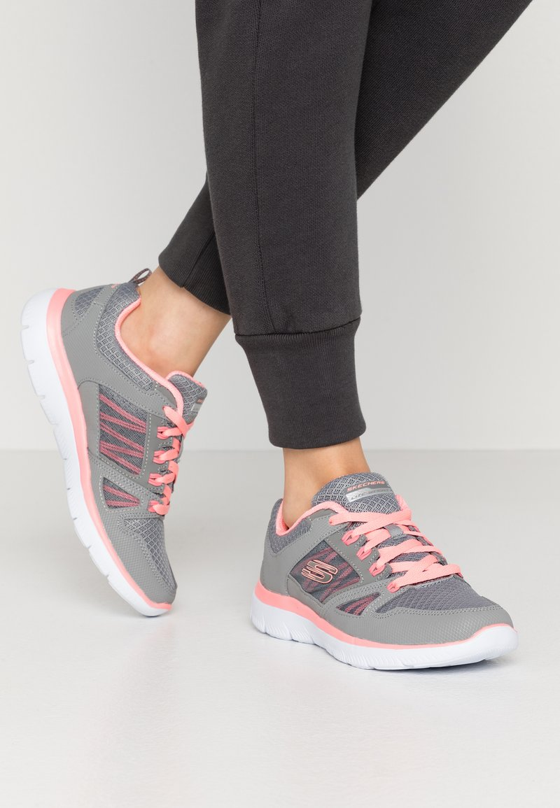 Skechers Sport - SUMMITS - Trainers - gray/coral