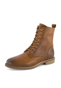 Travelin - Lace-up ankle boots - cognac - 1