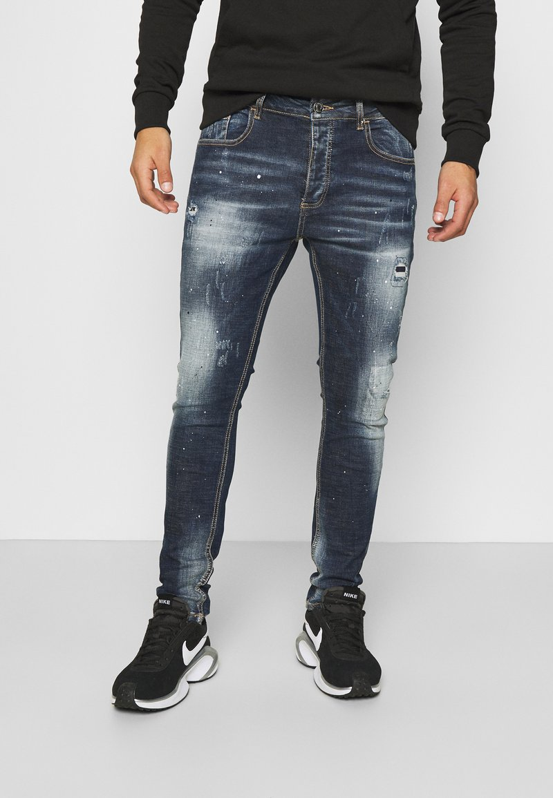 Alessandro Zavetti - CHEILLINI SUPER SLIM - Slim fit jeans - indigo