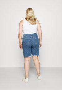 Simply Be - EXTREME RIPPED CITY  - Denim shorts - dark vintage - 2
