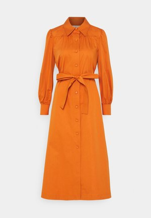 ARTIST DRESS - Shirt dress - tuscan orange