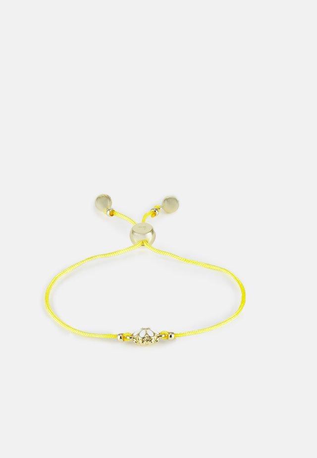DARSAY DAISY FRIENDSHIP BRACELET - Armbånd - gold-coloured/white