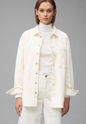 Button-down blouse - pale beige
