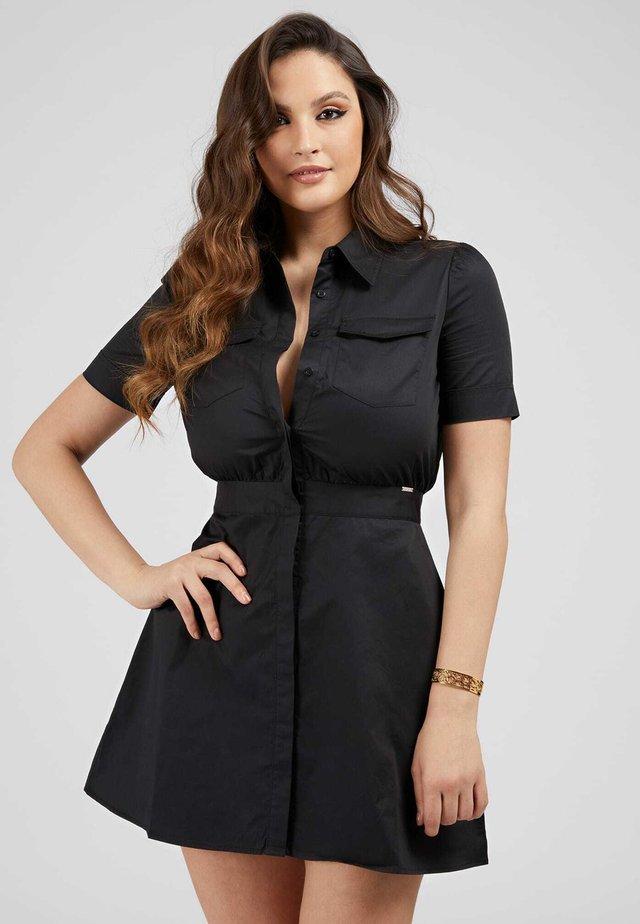 Sukienka koszulowa - schwarz