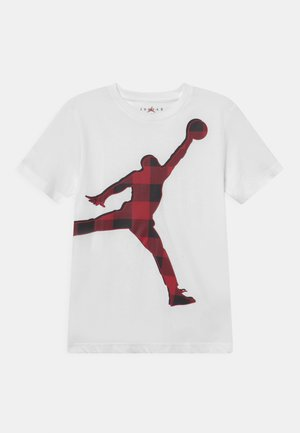 CHECK JUMPMAN TEE - T-shirt con stampa - white
