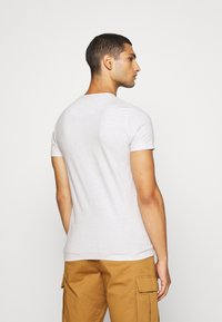 Hollister Co. - EX CORE TECH LOGO MULTI - T-shirt med print - grey/mint/cobalt - 2