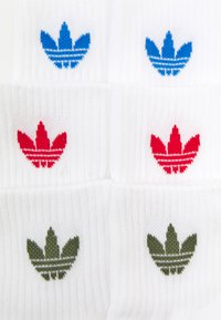 adidas Originals - ANKLE UNISEX 3 PACK  - Calze - white/scarlet - 1