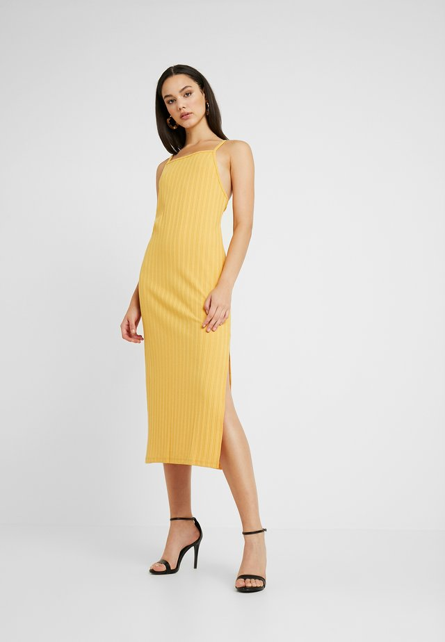 STRAP MIDI DRESS - Vestido largo - yellow