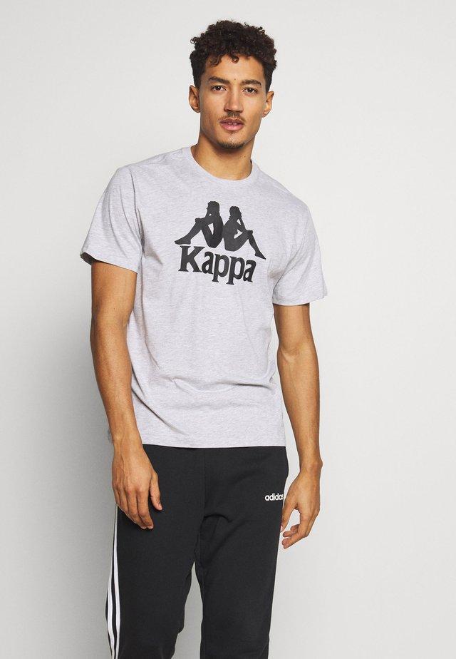 CASPAR - T-shirt con stampa - high rise melange