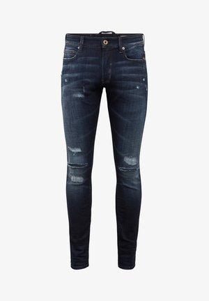 LANCET SKINNY - Jeans Skinny Fit - worn in ripped sapphire