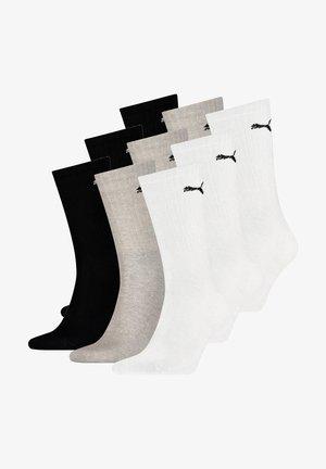 9 PACK - Sports socks - white grey black
