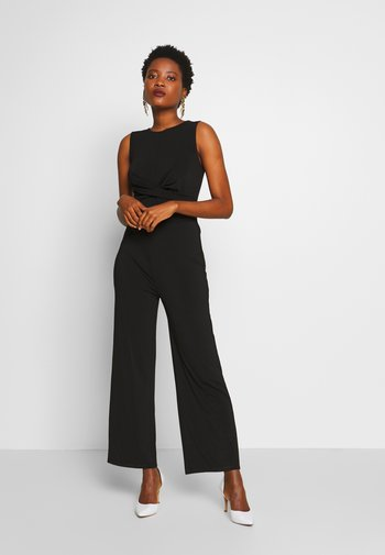 FRONT KNOT SOLID JUMPSUIT  - Overall / Jumpsuit - black