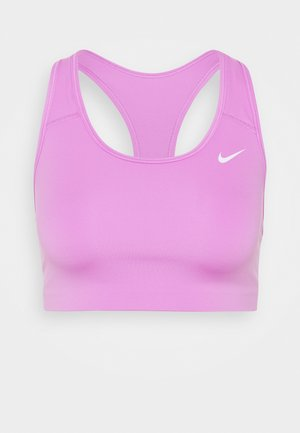 NON PADDED BRA - Medium support sports bra - fuchsia glow/white