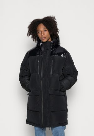 HIGH SHINELONG LENGTH - Down coat - black