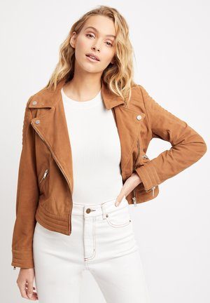 WILLOW - Leather jacket - rg camel