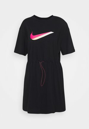 DRESS - Jerseykjoler - black/white