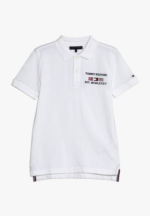 FLAG EMBROIDERED BADGE - Polo - white
