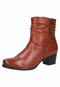Caprice - STIEFELETTE - Korte laarzen - cognac soft na - 2