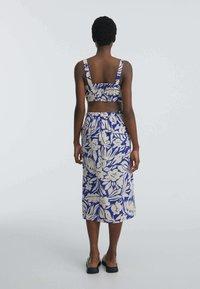OYSHO - TROPICAL  - A-line skirt - blue - 2