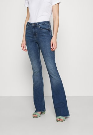 BEAT - Flared Jeans - light-blue denim