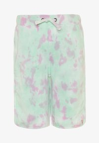 Guess - JUNIOR ACTIVE SHORTS MINIME - Tracksuit bottoms - green/pink cloud - 0