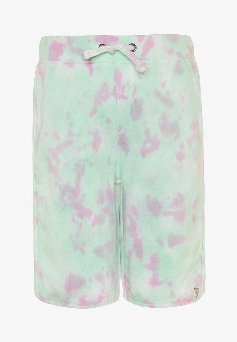 Guess - JUNIOR ACTIVE SHORTS MINIME - Tracksuit bottoms - green/pink cloud