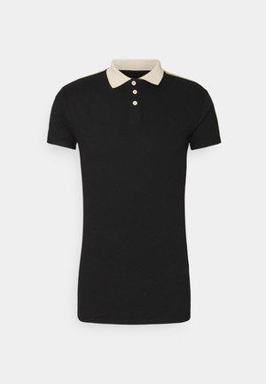 SIKSILK PREMIUM TAPE  - Poloshirt - black & off white