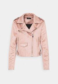 ONLSHERRY BIKER - Faux leather jacket - adobe rose