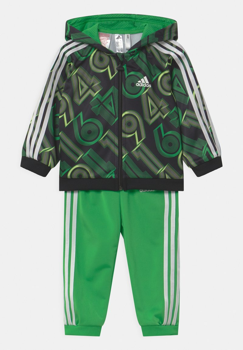 adidas Performance - SHINY SET UNISEX - Tuta - green, black