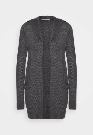 HOODED CARDIGAN - Vest - dark grey melange