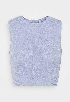 MIMI CROP - Top - silver blue