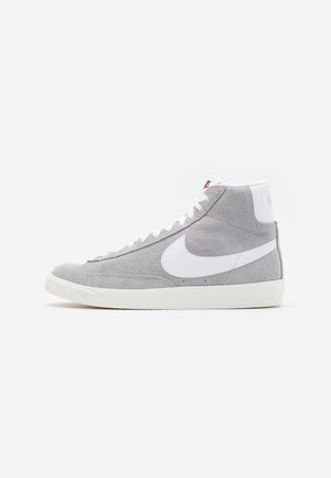 BLAZER MID UNISEX - High-top trainers - wolf grey/white/sail/total orange/black