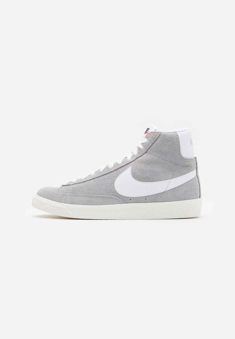 Nike Sportswear - BLAZER MID UNISEX - Baskets montantes - wolf grey/white/sail/total orange/black