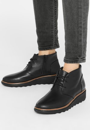 SHARON HOP - Wedge Ankle Boots -  black