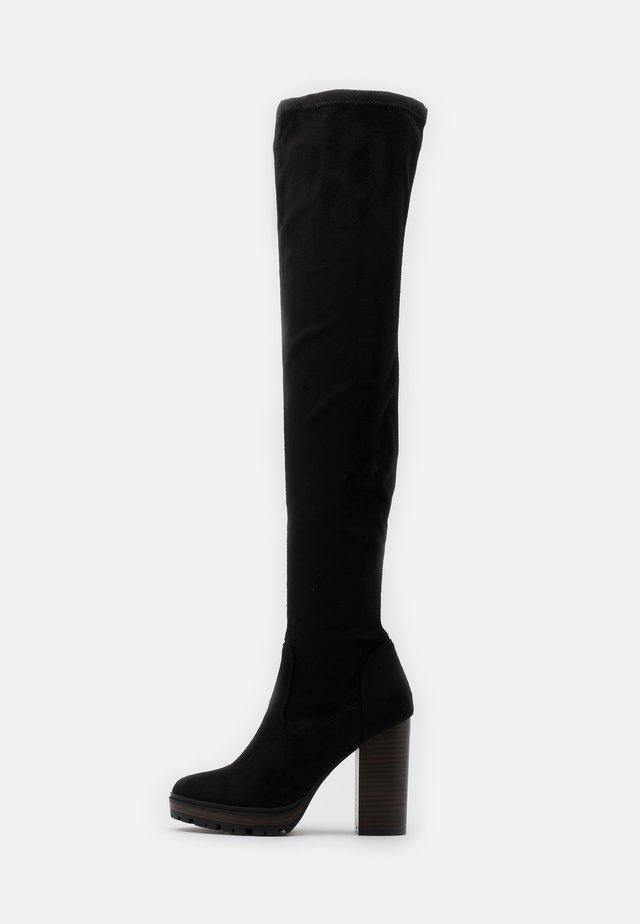 ONLTAYA LIFE - Stivali con i tacchi - black